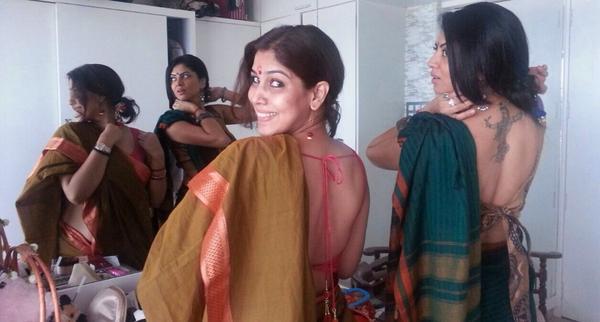 sakshi tanwar blouse back