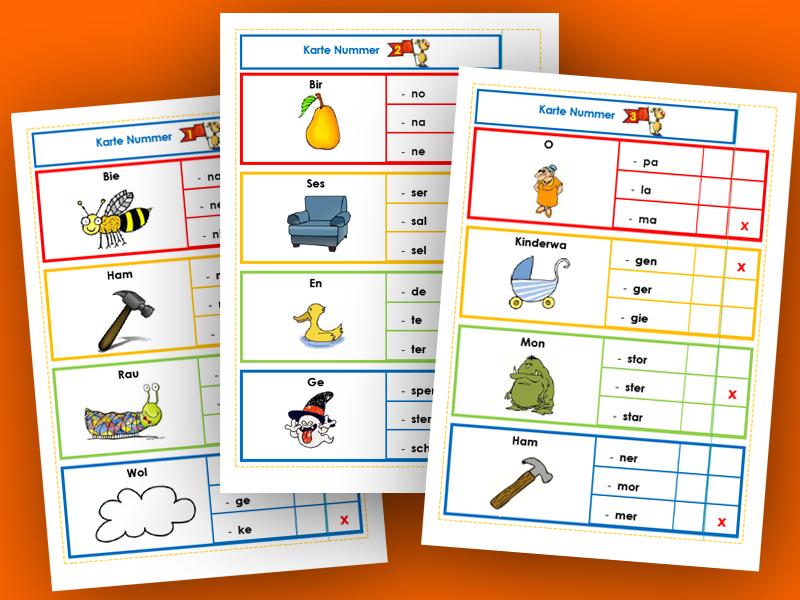 Arbeitsblätter und Unterrichtsmaterial für die Freiarbeit in der ...