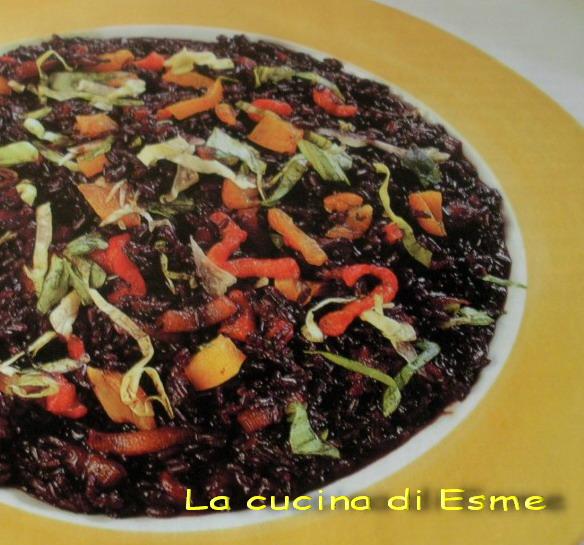 La cucina di esme risotto nero ai peperoni - La cucina di esme ...