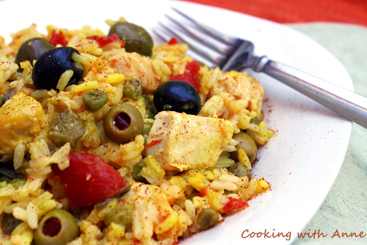 Cooking with anne arroz con pollo with three olives - Arroz salteado con pollo ...