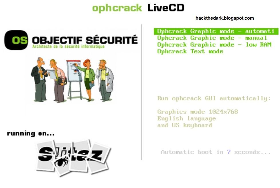 Ophcrack XP LiveCD - вы думаете Как взломать пароль Windows XP? . Этот дис