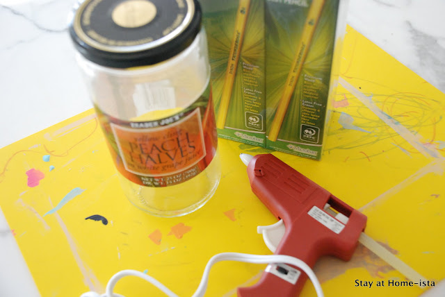 supplies needed to make a pencil vase