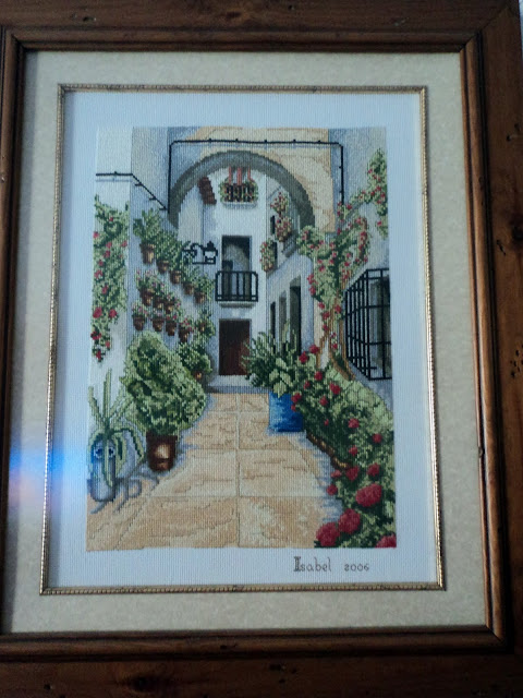 El patio de isabel cuadros punto de cruz for Cuadros cocina punto de cruz
