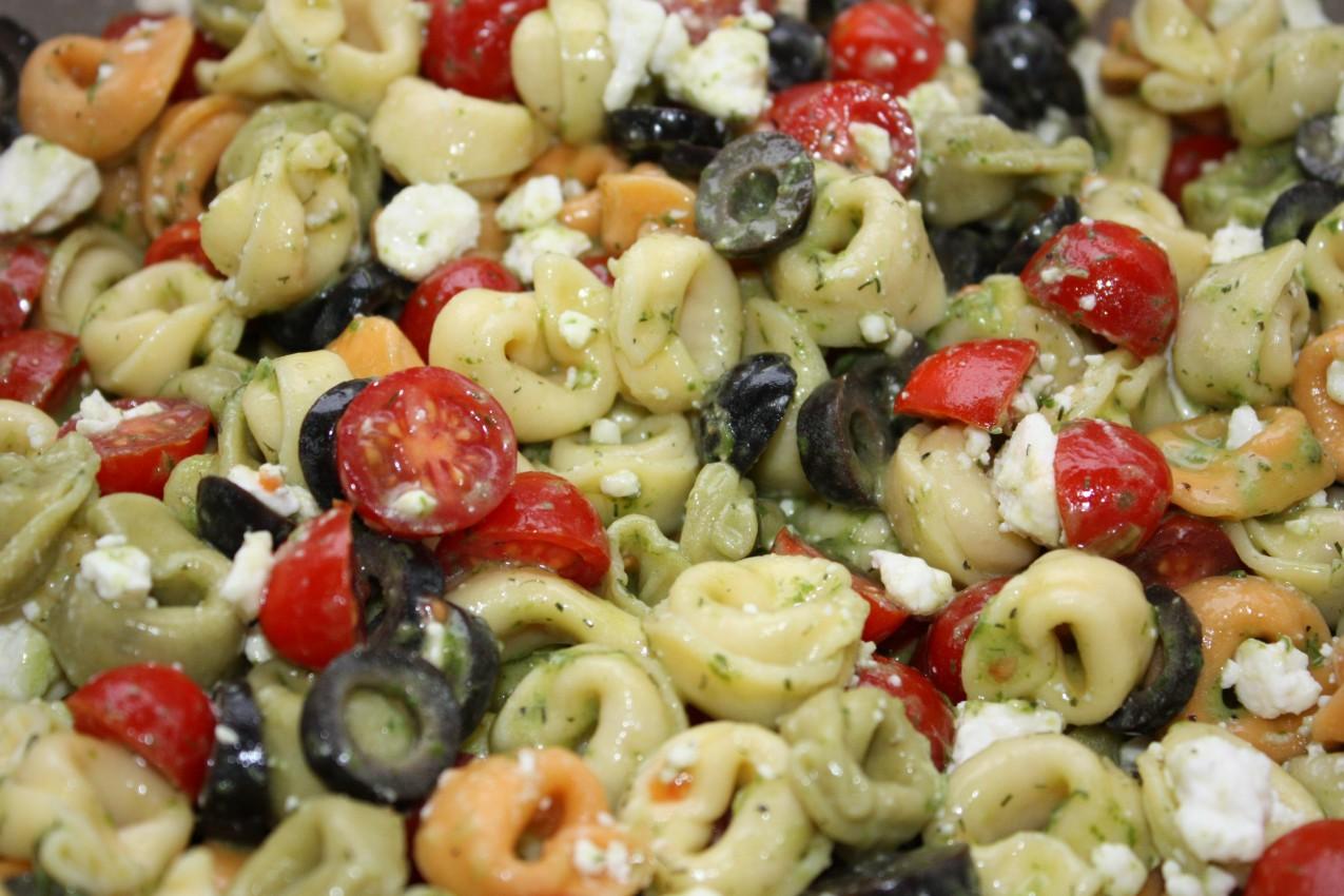 pass the peas, please: tricolor tortellini salad