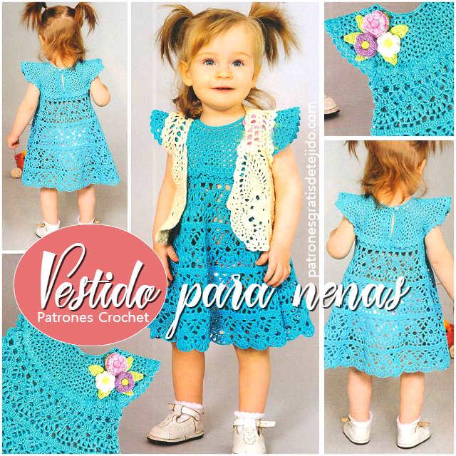 Vestido para Nena tejido con ganchillo / Patrones y explicación ...