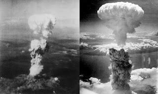 The bombs at Hiroshima and Nagasaki
