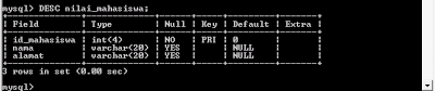 Menambah Primary Key dan Unique Key pada tabel di MySQL