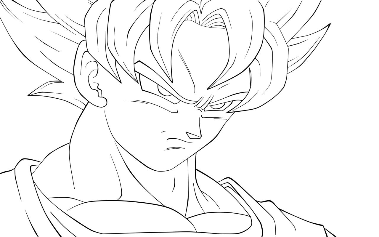 Dibujos de Goku para Colorear ~ Dibujos para Niu00f1os