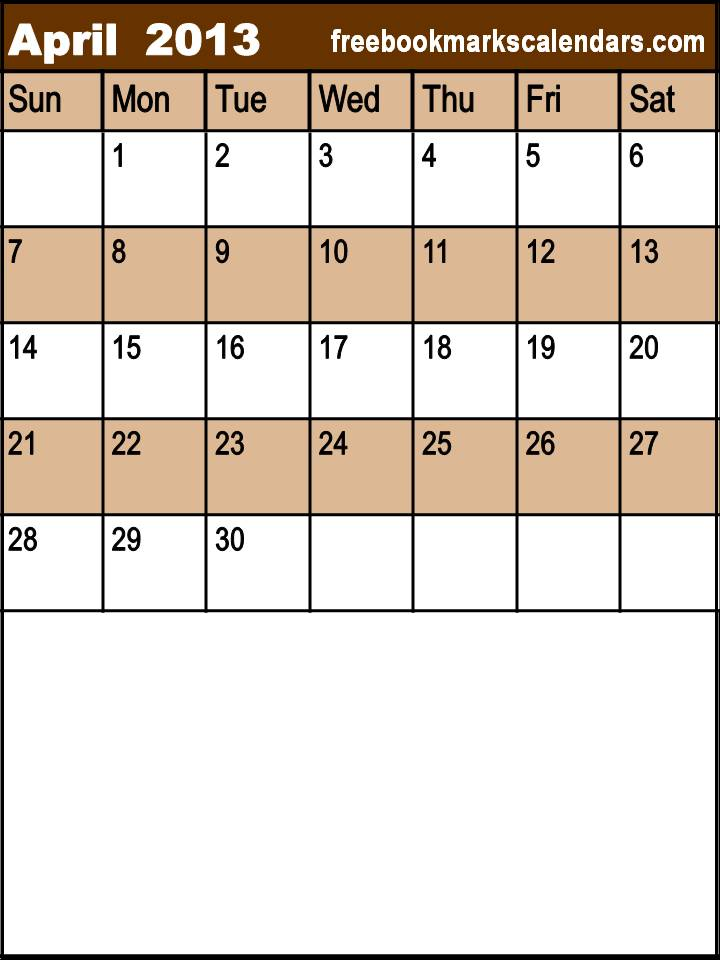 Free Printable Calendars with Notes