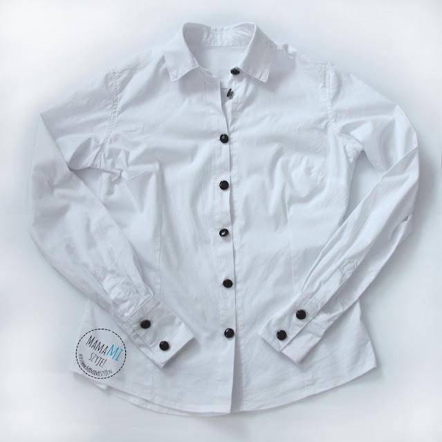 mankiety w damskiej koszuli, szycie rękawów, zaszewki w koszuli