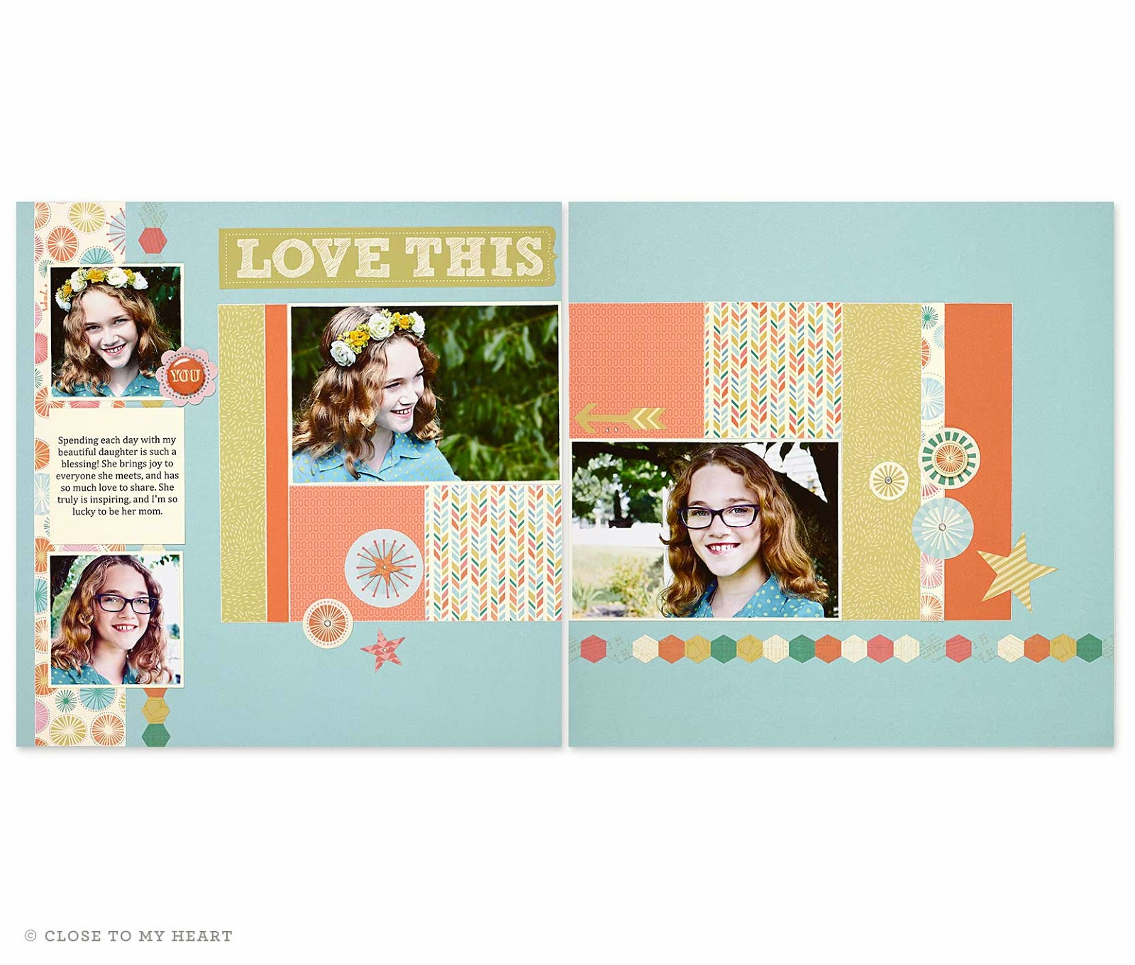 CTMH Hopscotch Scrapbook Layout