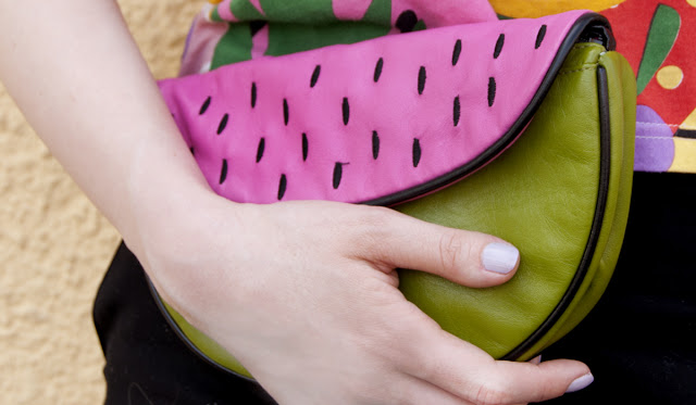 melon handbag, Lazy Oaf, melon clutch