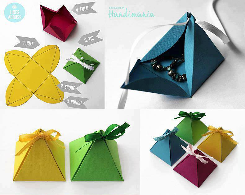 Peque as cajas de cartulina para regalos construccion y - Como hacer cajitas de cartulina ...