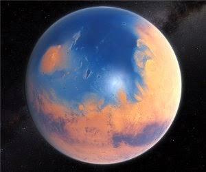 Marte já foi vermelho e azul