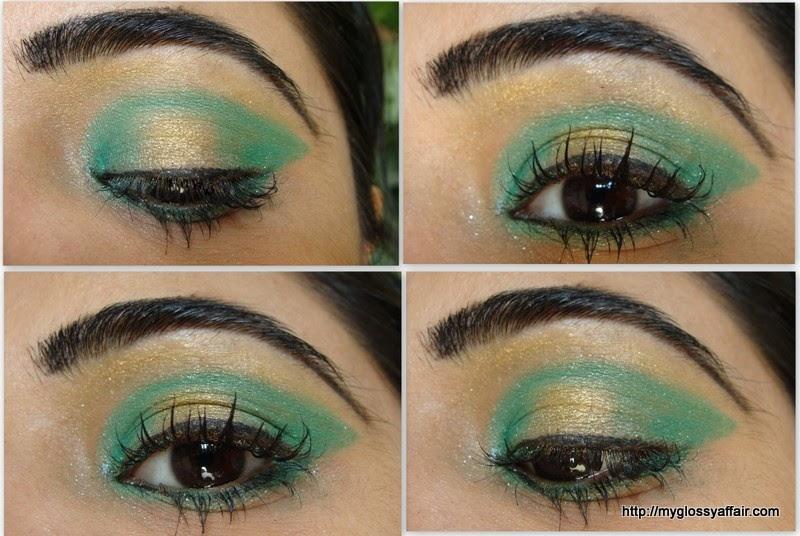 Green Gold Eye Makeup