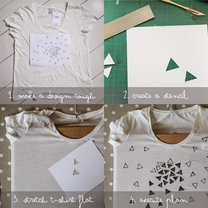 making your own graphic print t-shirt by Alexis at somethingimade.co.uk blog
