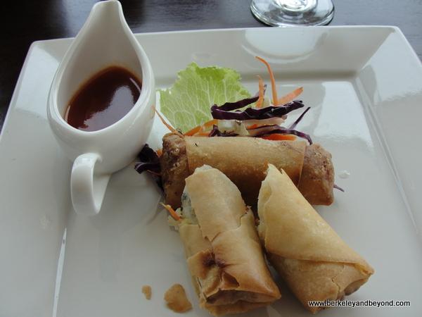 spring rolls at Dapur Nusa restaurant in Taman Nusa Indonesian cultural park in Bali