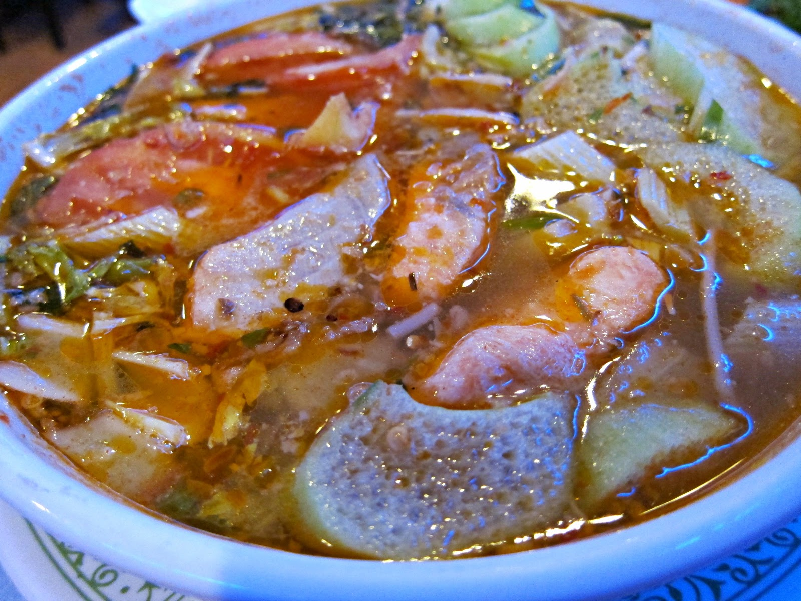 Vietnamese Sweet And Sour Soup Served Family Style