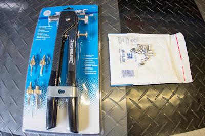Threaded rivnut insertion tool and 5mm aluminium rivnuts