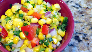 roasted corn, bell pepper, jalapeno, garlic, cilantro, lime, red onion