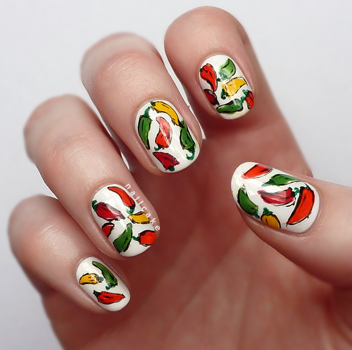 Nail cake feelin hot hot hot chilli pepper nail art feelin hot hot hot chilli pepper nail art prinsesfo Choice Image