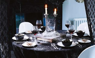 Black Dining Table by Beach Interior