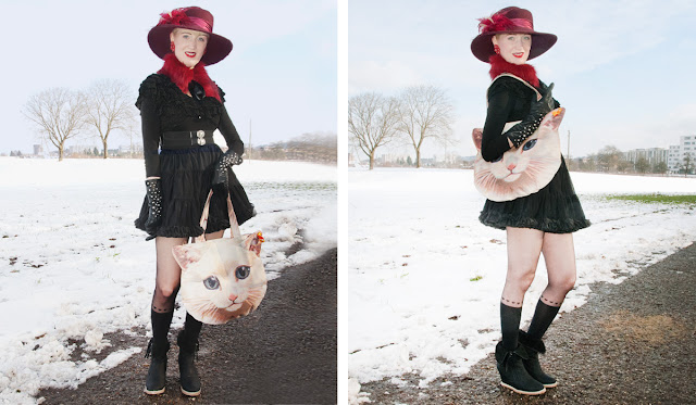 cat bag, heart tights, collectif, retro