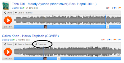 cara download lagu di Soundcloud