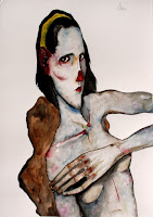 victor otero carbonell retrato con cinta