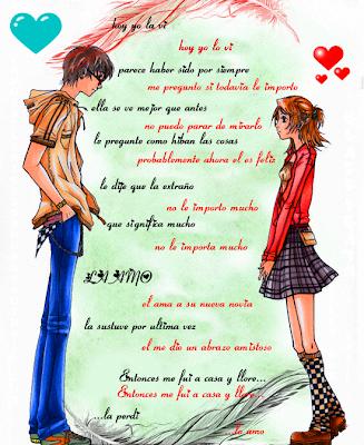 Anime love con frases de amor.