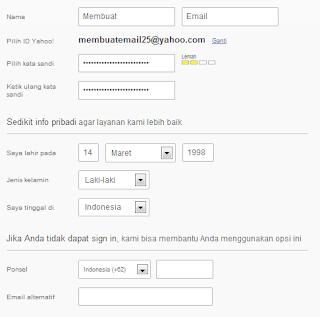Cara membuat email Yahoo, cara membuat, email yahoo,tutorial