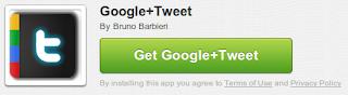 instal twitter in google+