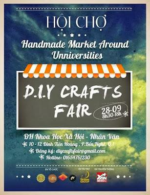 Hội chợ handmade vòng quanh các trường đại học