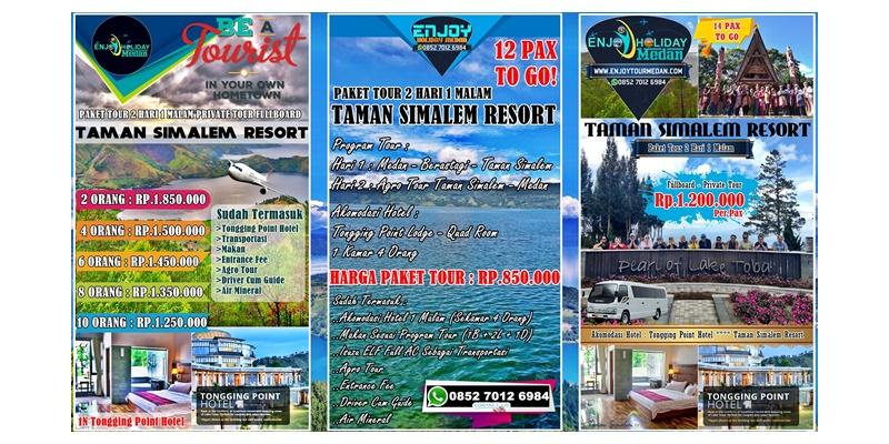 Paket Tour Medan Taman Simalem Resort 2 Hari 1 Malam