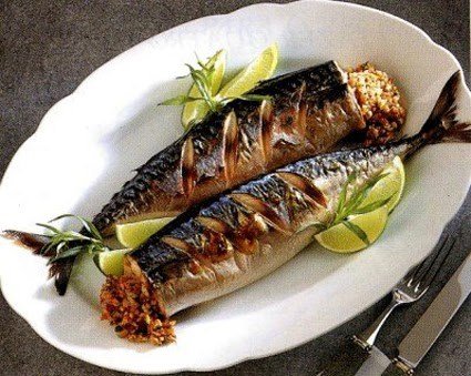 Flavors of brazil recipe grilled stuffed mackerel for How to cook mackerel fish