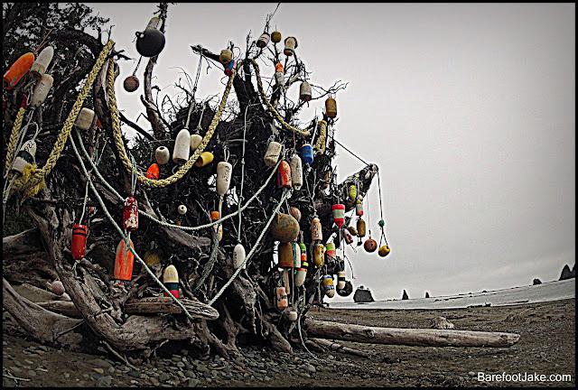 coastal trash art