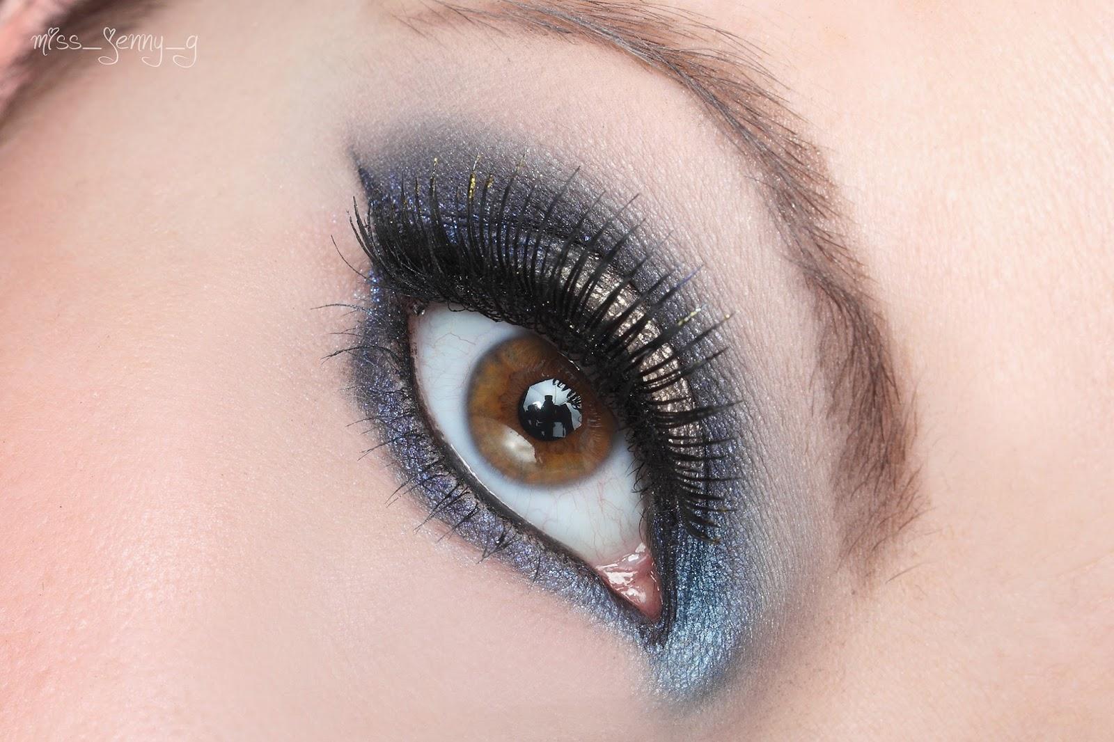Miss jenny g beautyblog nachgeschminkt gold blue - Smokey eyes blau ...