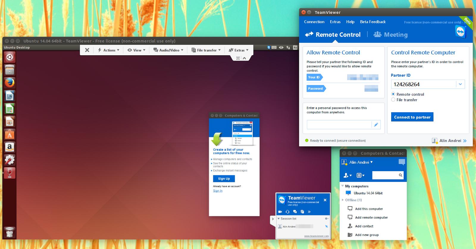 TeamViewer 10 beta Ubuntu