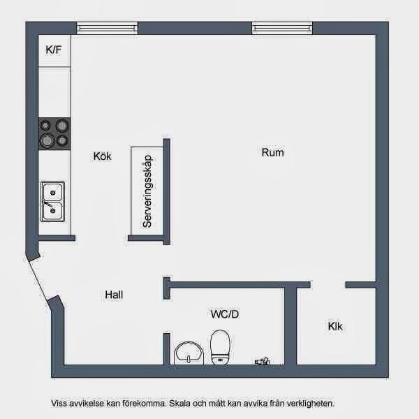 Schemat mieszkania skandynawskiego
