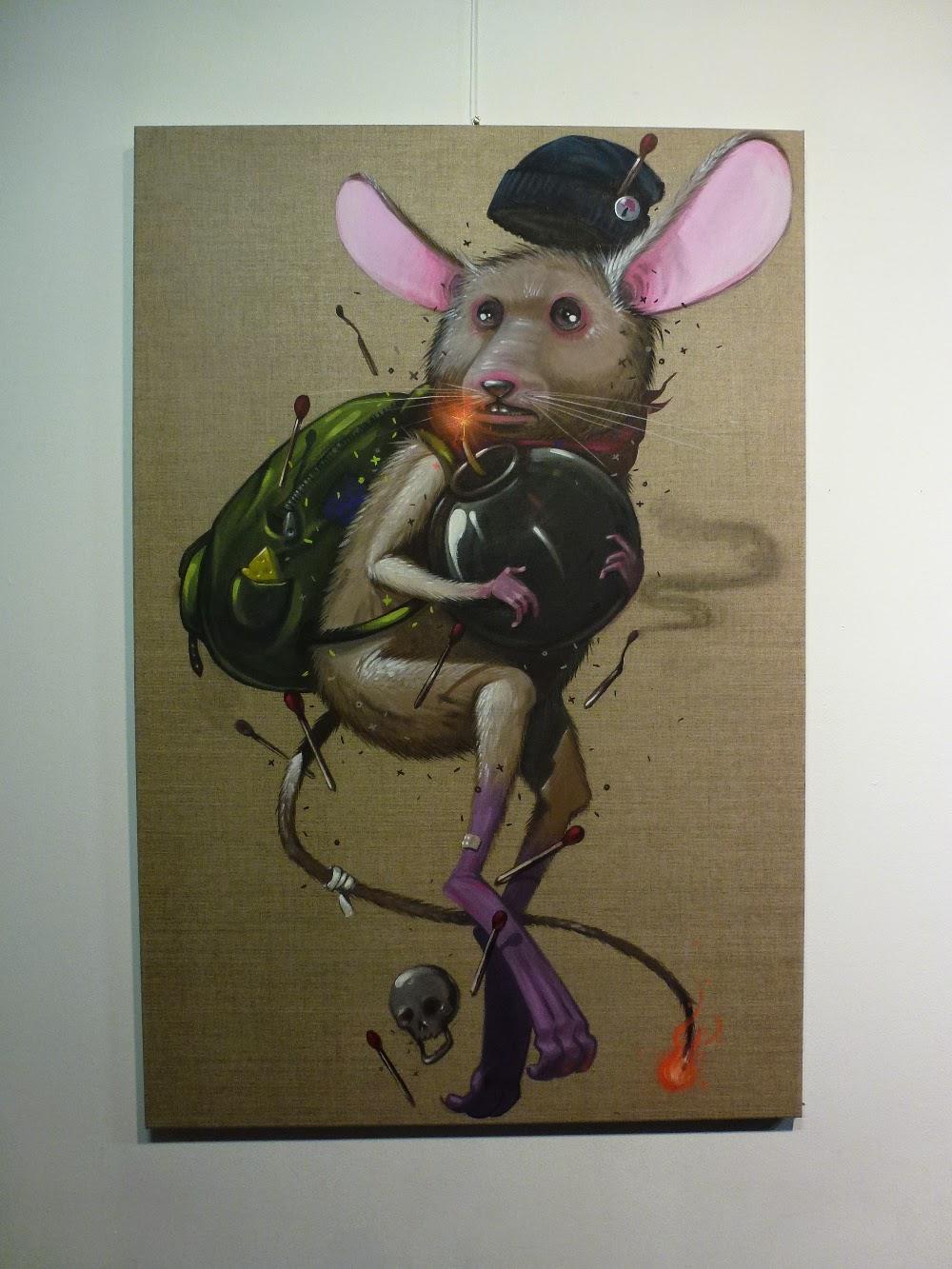 Acryl-Malerei von Mr. Woodland bei der behance portfolio show