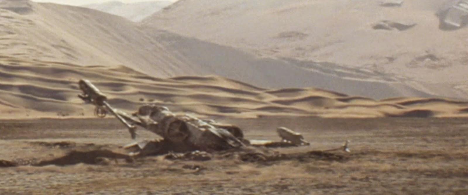 Star Destroyer Crashes on Tatooine Crashed Star Destroyer