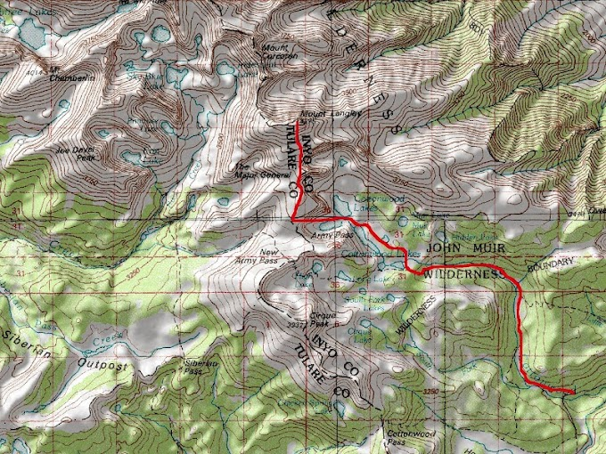 Mount Langley (CA, USA) - 14,032 ft (4,277 m)