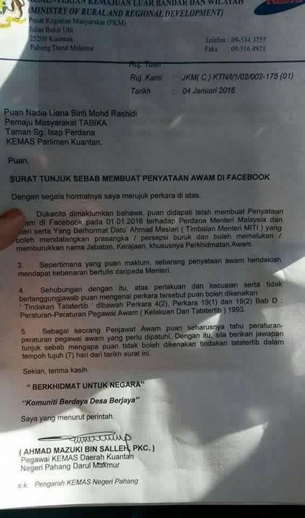 PANAS! Penjawat Awam Terima Padah Burukkan Najib Dan Ahmad Maslan Di Facebook