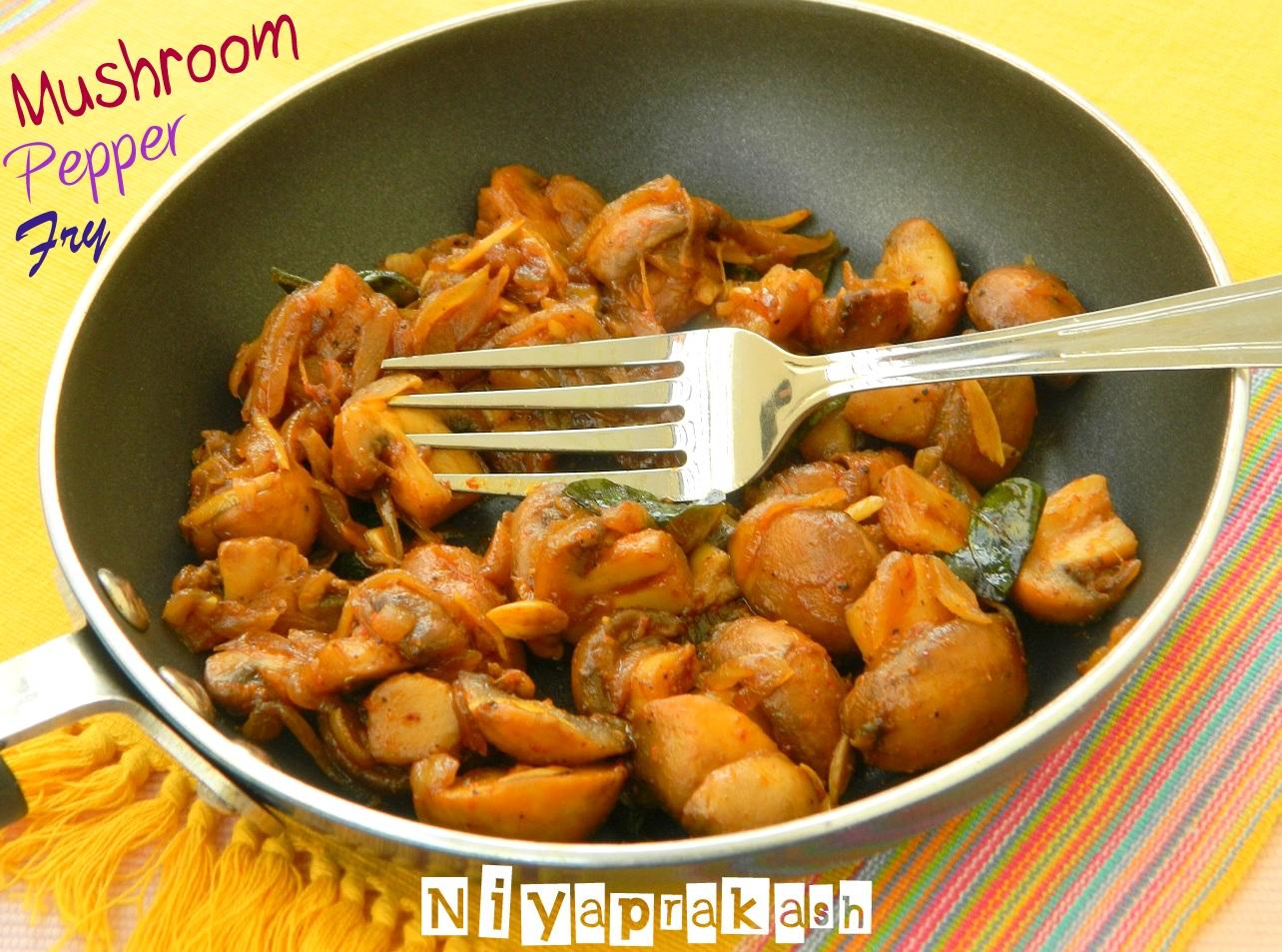 ... mushroom pepper fry 1 mushroom pepper fry recipe pepper mushroom fry 4