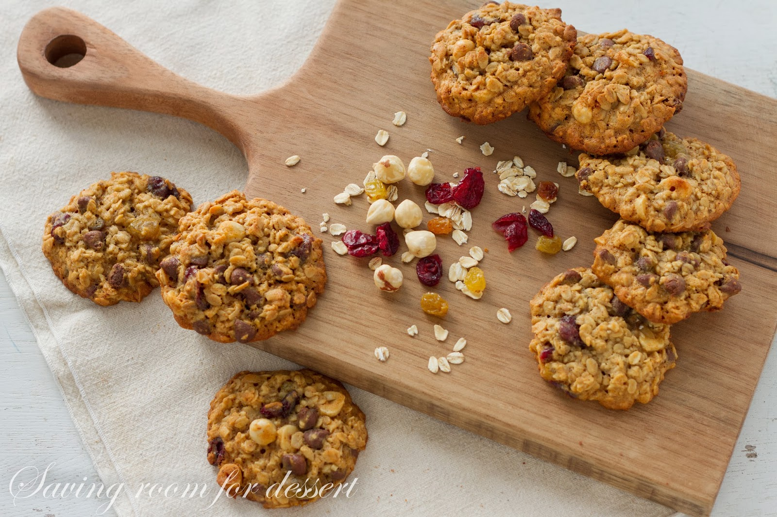 Oats Fruit and Nut Browned Butter Breakfast Cookie - Saving Room for ...