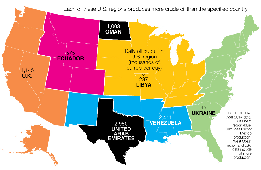 The U.S. oil boom visualized on a beautiful map of America