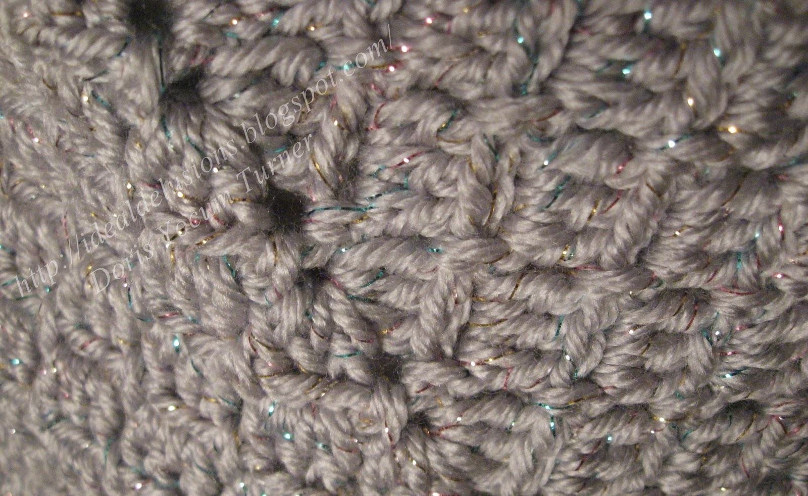 Ideal Delusions So Simple Box Stitch Shawl All Diagrams Doris Chan Crochet On The Next Row Instead Of Single I Worked A Double And Chain