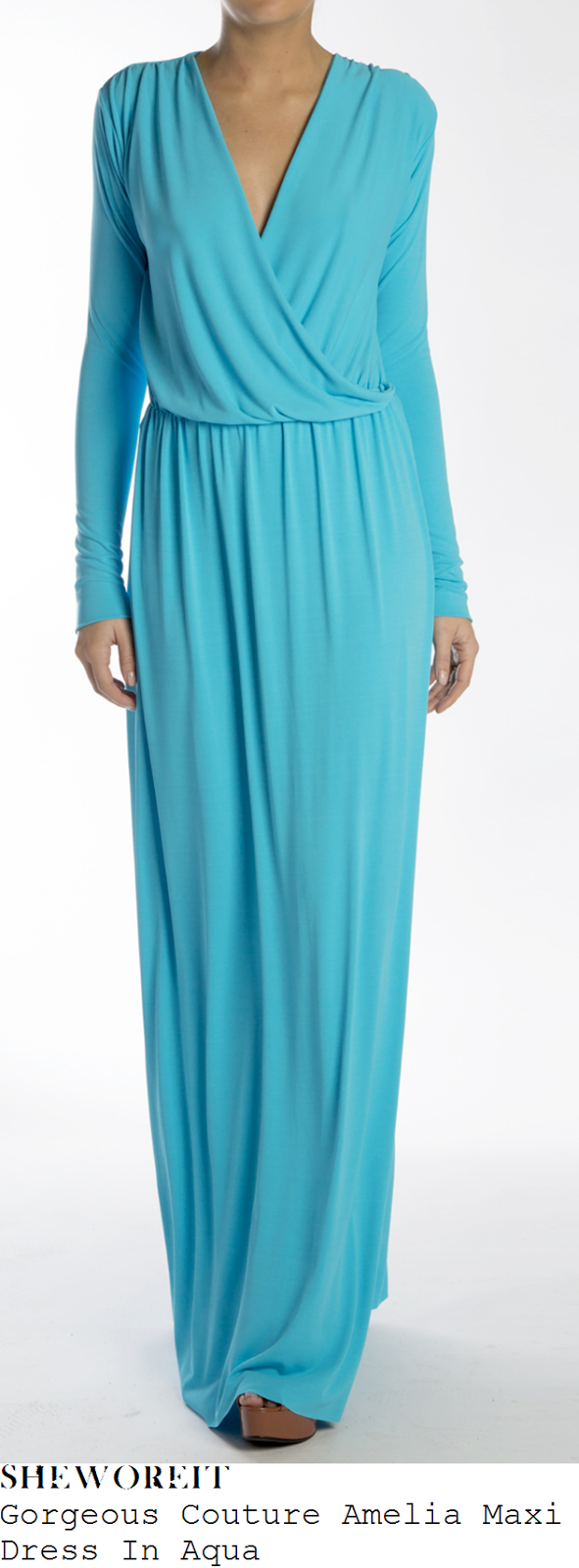 brooke-vincent-aqua-turquoise-long-sleeve-cross-over-front-draped-maxi-dress