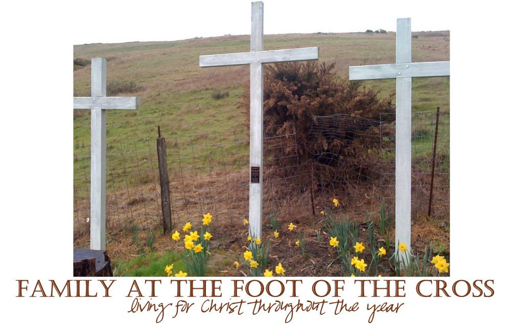 Family At The Foot Of The Cross