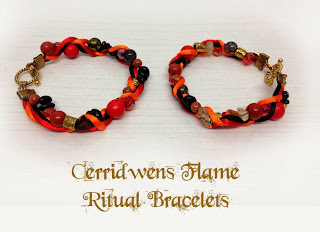 Cerridwens Flame Ritual Bracelets from MoonsCrafts